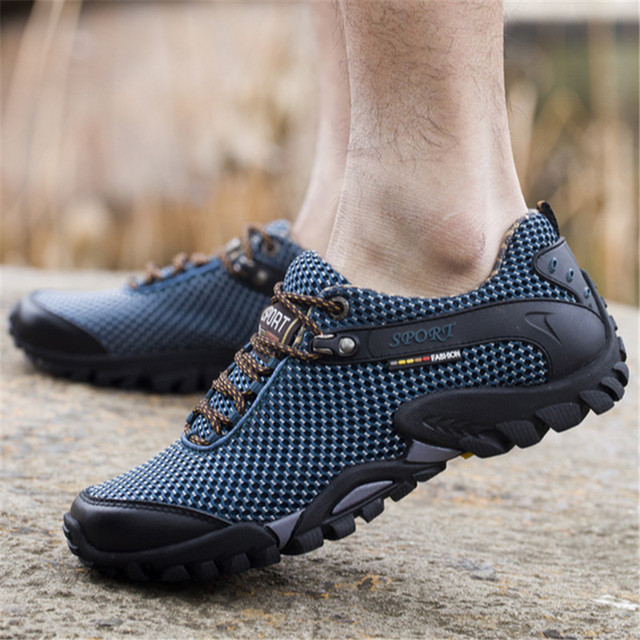 2017 Outdoor Sport Shoes men Sneakers men shoes Running Shoes for men Brand Anti-skid Off-road Jogging Walking Trainers HG71