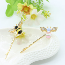 Hot Sale 1pc Cute Chic Rhinestones Bee Barrette Colorful Cartoon Hair Clip Accessories for Women Girls все цены