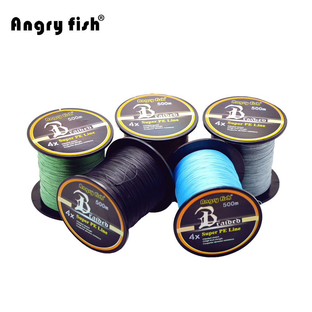 Hot New 500m 4x Braided Fishing Line 11 Colors Super PE Line Strong Strength