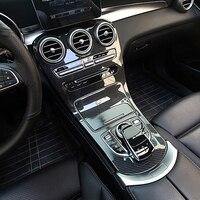 FOR Mercedes Benz GLC X253 carbon fiber car stickers W205 interior modification in the control strip GLC COUPE accessories