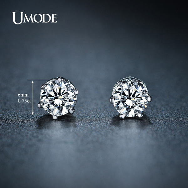 13c35db967a UMODE Beautiful Brincos Female Rhodium color AAA CZ Piercing Stud Earrings  Jewelry For Women Luxury Bijoux AUE0159-in Stud Earrings from Jewelry ...