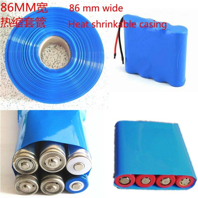 Купить с кэшбэком 1M 18650 lithium battery heat shrinkable casing skins of lithium polymer battery meter of wholesale PVC heat shrinkable film