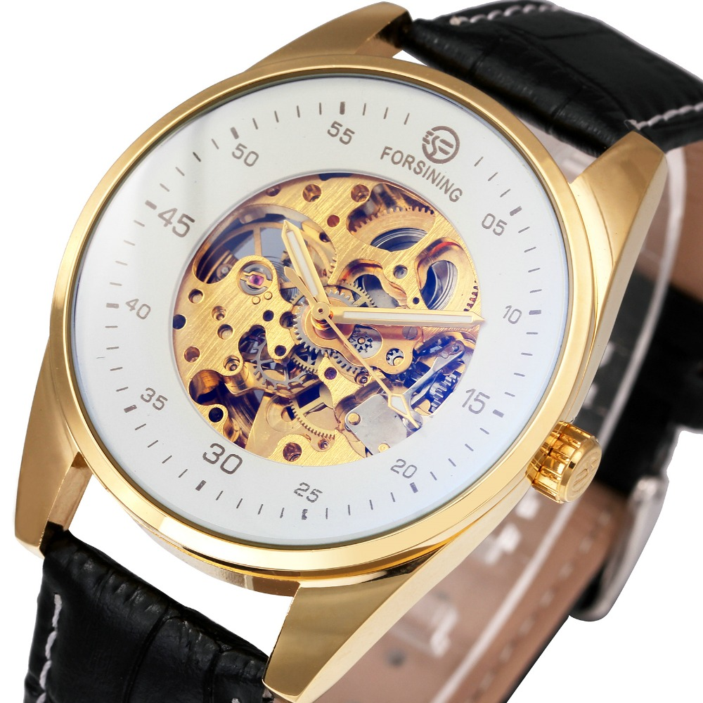 2018 FORSINING Unique Men Automatic Mechanical Wrist Watches Leather Band Round Skeleton Dial Blue-ray Crystal Luminous Hands 2018 FORSINING Unique Men Automatic Mechanical Wrist Watches Leather Band Round Skeleton Dial Blue-ray Crystal Luminous Hands