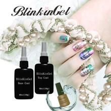 BlinkinGel 80ml Long Lasting UV LED Top Coat   Base Coat UV Gel UV Base Coat Top Coat Nail Polish Soak Off Gel