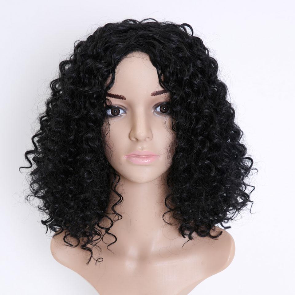 SHANGKE HAIR Afro Kinky Wig Curly Syntetiska Paryk För Kvinnor - Syntetiskt hår - Foto 5