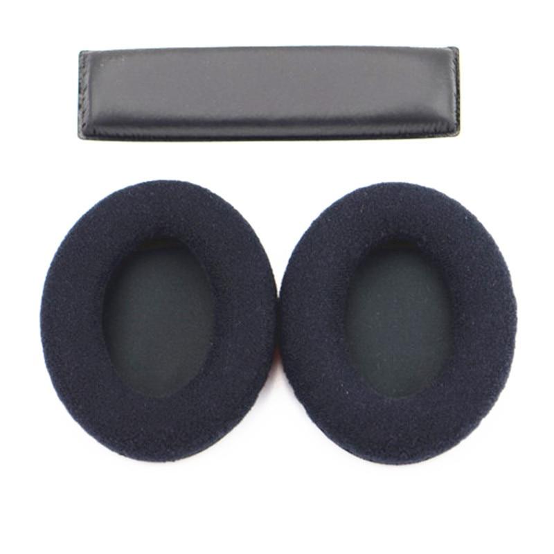 Replacements Velvet Foam Ear Pads Cushions Headband For Sennheiser HD418 HD428 HD419 HD429 HD448 HD449 Headphones Earpads