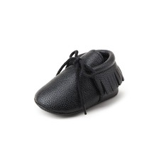Delebao Pu Leather Tassle Style Baby Shoes Unique Man-made Boy & Girl Lace-up Spring/Autumn First Walkers