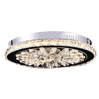 Crystal Flush Mount LED Modern Contemporary Living Bed Dining Study Office Kids Hallway Metal Ceiling Light