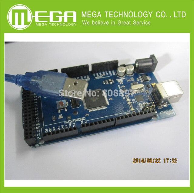 Бесплатный shjpping 2 шт./лот ATMega2560 Mega2560 ATmega2560-16AU Доска + USB Кабель, мега 2560