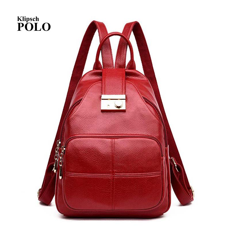 2018 Women Genuine Leather Backpacks Ladies Fashion Backpacks For Teenagers Girls School Bags Real Leather Travel Bags Mochila fashion 2016 star sky backpacks school bags for teenagers students book bags women travel backpacks girl mochilas