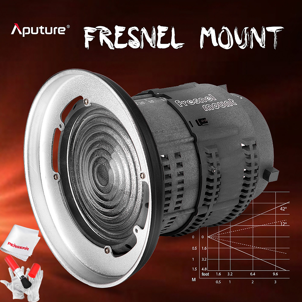 Aputure Fresnel Mount Lens for Aputure Light Storm COB 120T 120D and other Bowen-S Mount Lights - 12 to 42 Degree Beam Angle doumoo 330 330 mm long focal length 2000 mm fresnel lens for solar energy collection plastic optical fresnel lens pmma material