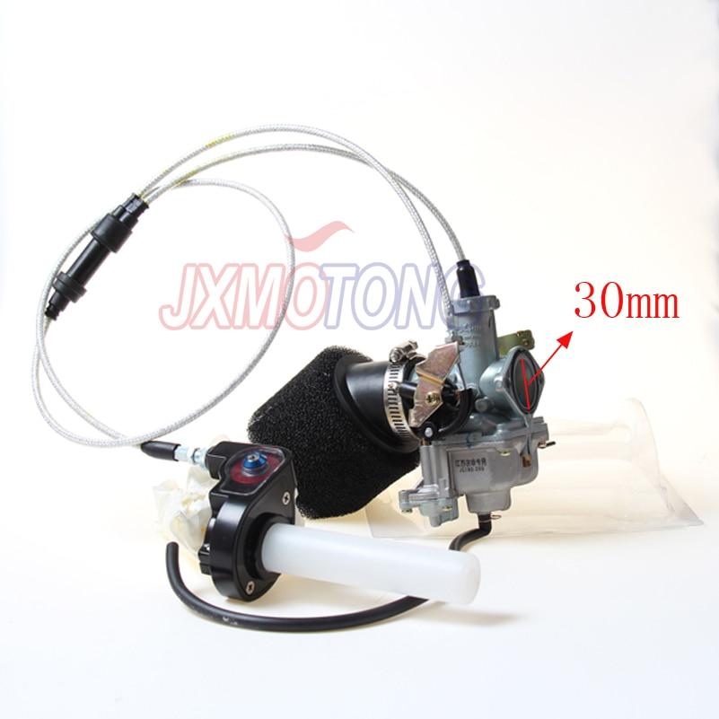 Power Jet Accelerating Pump for KEIHIN 30mm PZ30 Carburetor + Visiable Twister+ Dual Cable IRBIS +Air Filter keihin cable choke 30mm pz30 carburetor power jet accelerating pump for 200cc 250cc motorcycle dirt bike pit bike atv