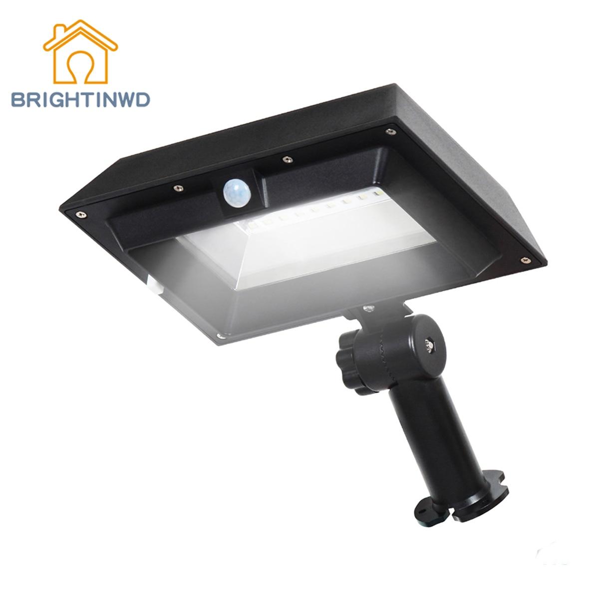 PIR Motion Sensor LED Solar Wall Light IP44 Waterproof 30 LED Solar Street Light Garden Gutter Light Solar Light BRIGHTINWD декоративні лампи із дерева у стилі бра