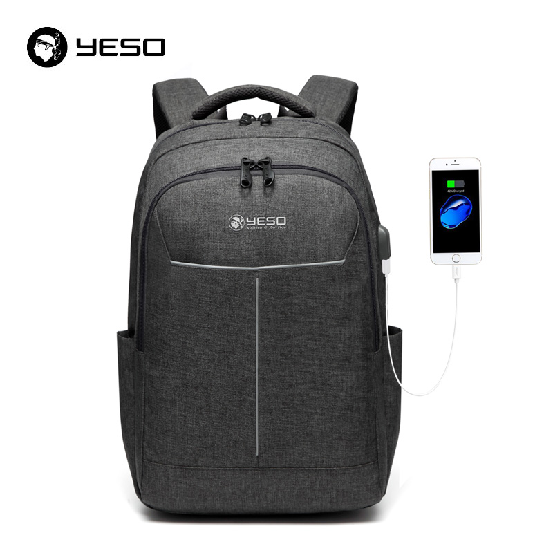 Yeso Backpack Large Capacity With Usb Charging Multifunction Teenager Business School Travel Laptop Backpacks For Women Men