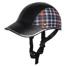 Motorcycle Helmet Baseball Cap Style Plaid Half Open Face Shorty Helmet Safety Hard Hat Anti-UV Helmets cascos para moto 6 Color