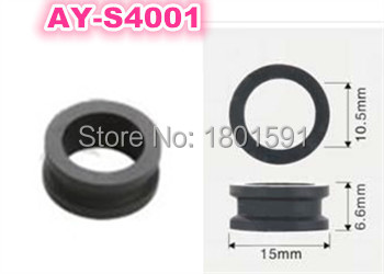 free shipping 500pieces top quality fuel injector grommet rubber seal 15 10 5 6 6mm for