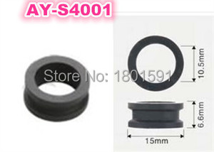 free shipping 500pieces top quality fuel injector grommet rubber seal 15*10.5*6.6mm for mitsubishi car (AY-S4001)