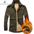 Eva's Confuse Men's Cotton Casual Shirts Long Sleeve Fashion Brand High Quality Wholesale Male Luxury Army Dress Shirts