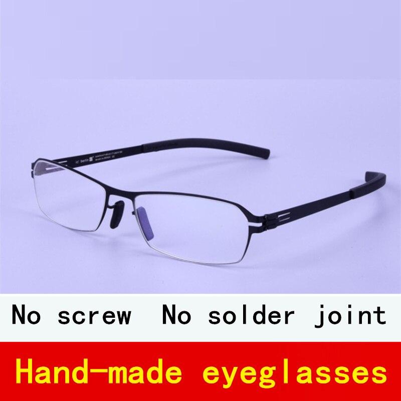 0.5mm in acciaio inox germania di marca montature da vista Senza Viti Ultra-sottile creativo personalità miopia occhiali cornice di sesso maschile