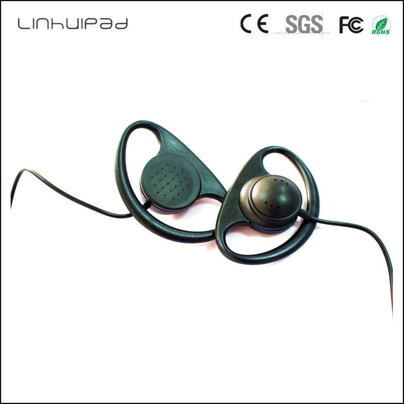 Linhuipad 3.5mm Stereo Sport Ear Hook Earphones for Driver Mobile Phone BASS Running Earbuds Tour guide travel Headset 200 PCS