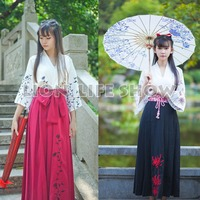 Matsuri Japan Women Half Sleeve Floral Manjusaka Haori Kimono Yukata Coat Skirt