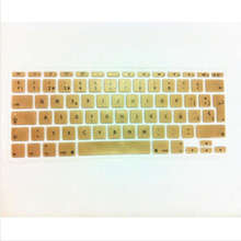 Spanish UK EU Silicone Soft Keyboard Cover Skin sticker Protective film for apple MacBook Air 11