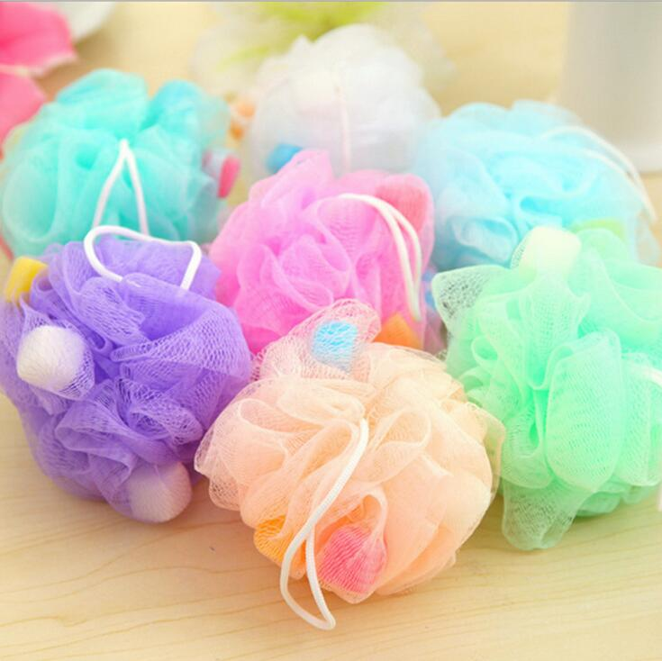 Bath Brushes Ball With Sponges Scrubbers Flower 10CM Mesh Shower Body Wash Rub Professional Bathroom nessage
