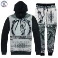 Mr.1991INC Statue of Liberty Men's hoodies retro print One Million Dollars hooded hoody tracksuits long pant 3d sweatshirt