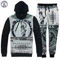 Mr.1991INC hoodies dos homens de impressão retro Estátua da Liberdade de Um Milhão de Dólares com capuz fatos de treino hoody calça longa camisola 3d
