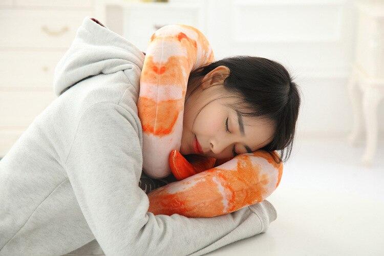 Kussen Voor Kinderen : 1 st 40 cm creatieve pluche gepelde garnalen knuffels knuffels u