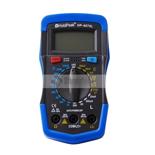 HoldPeak HP-4070L Digital Capacitance Meter Inductance Meter LCR Meter holdpeak hp 4070l digital multimeter resistance tester capacitance meter inductance test lcr meter hfe tester with back light