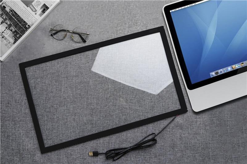 Сенсорный 42 дюймов ИК сенсорный экран 10 очков промышленный ИК сенсорный экран панель для монитора, инфракрасный сенсорный экран Рамка