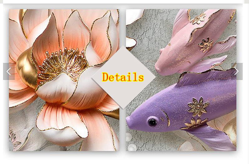 HTB1T704sKuSBuNjSsziq6zq8pXad Modular Pictures 3D Art Flower Lotus Poster Wall Art Modular Paintings For Kitchen Wall Pictures Living Room Canvas Painting