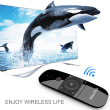 W1 Wireless Keyboard 6-Axis 2.4G Air Mouse Motion Sense IR Learning Remote Control USB Receiver for Android Smart TV SET UP BOX