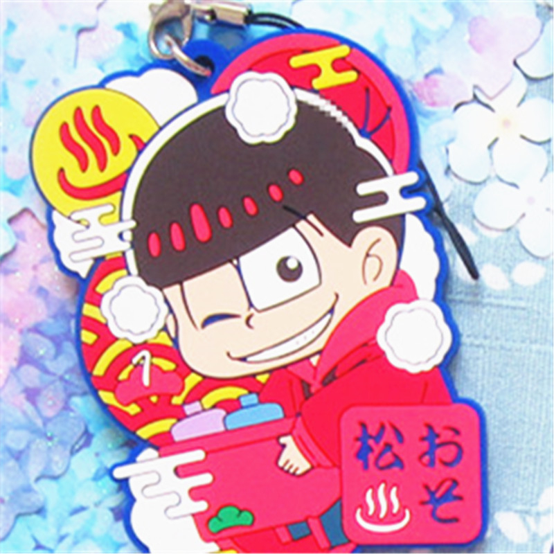 PCMOS  2017 New Anime Osomatsu San SIX SAME FACES Bathroom Ver  6pcs Set  Phone Strap Keychain Free Shipping 16072205 in Action   Toy Figures from  Toys. PCMOS  2017 New Anime Osomatsu San SIX SAME FACES Bathroom Ver