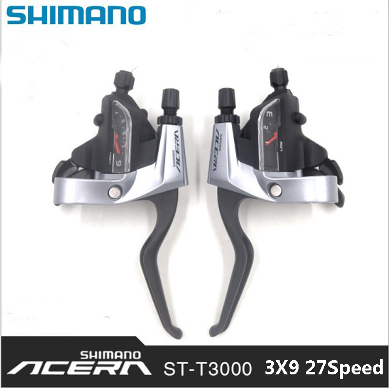 SHIMANO Acera Mountain bike ST-M390/T3000 shift brake lever 3*9 speed 24s MTB bicycle bike Conjoined DIP Bicycle Derailleur  shimano acera mountain bike st ef65 shift brake lever 3 8 speed 24s mtb bicycle bike conjoined dip bicycle derailleur