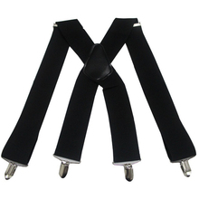 Solid Unisex 5cm Suspenders 4Clips X-back High Quality Elastic Adjust Braces Party Business Casual Pants Suspenders For Men Male