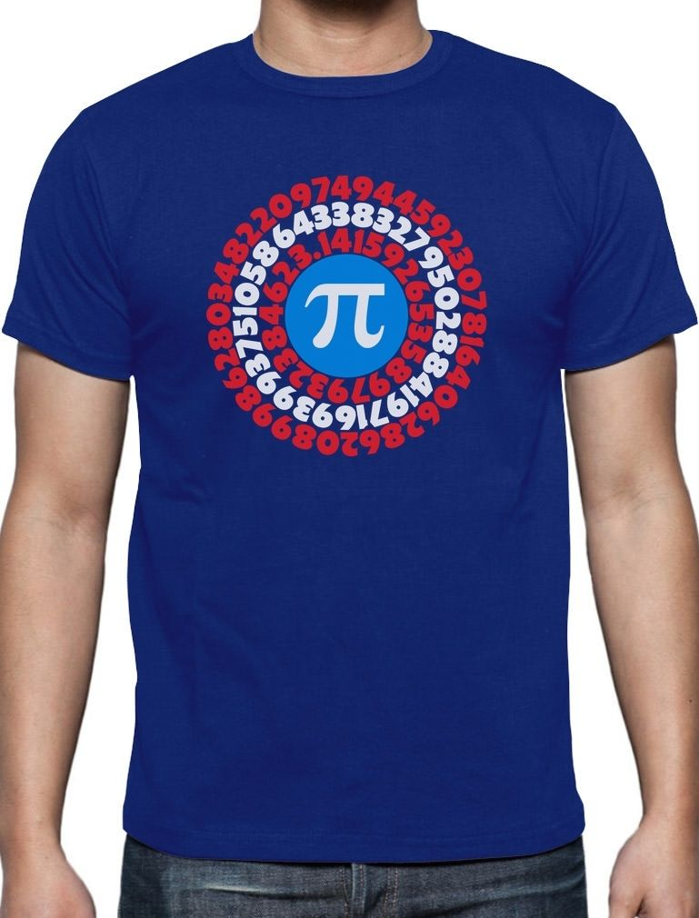 Tee Shirts Hipster Crew Neck Graphic Pi Day Superhero Captain Pi Gift For Math font b