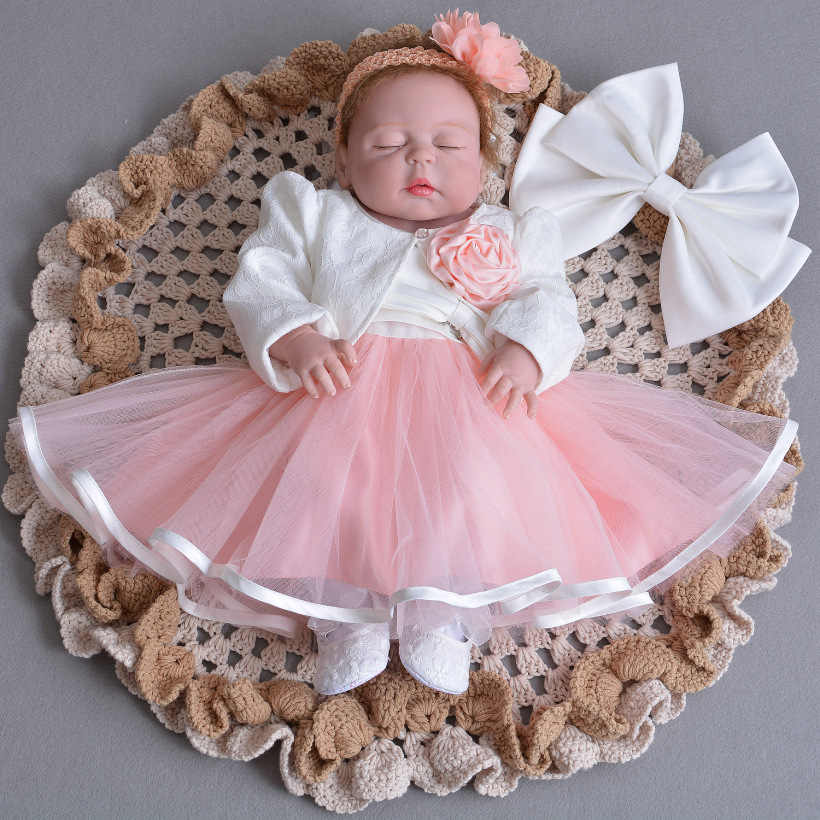 56c014fc2726 1 Year Old Birthday Baby Girl Dresses Jacket Pink Bow Party Wear Vestido  2018 Toddler Baby