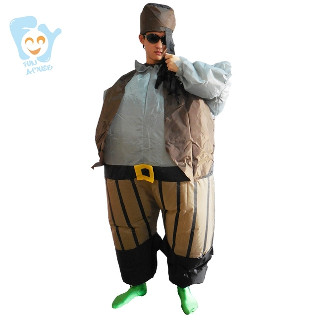 pirate costume halloween costume men cosplay inflatable caribbean pirate jack costumes adult fancy dress - Halloween Jack Costume
