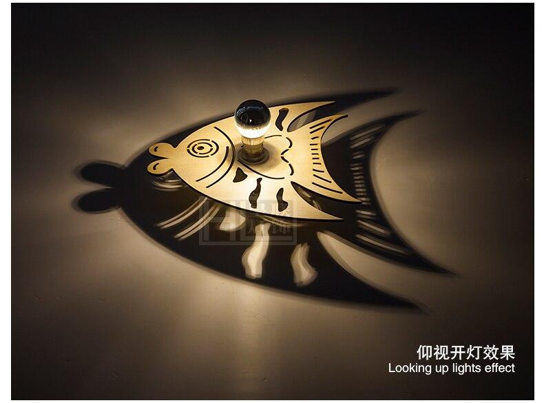 Aliexpress.com : Buy QG DECO Novelty Wood Ocean Fish Ceiling Light Flush  Mount Projection Shadow Lamp Led Art Deco