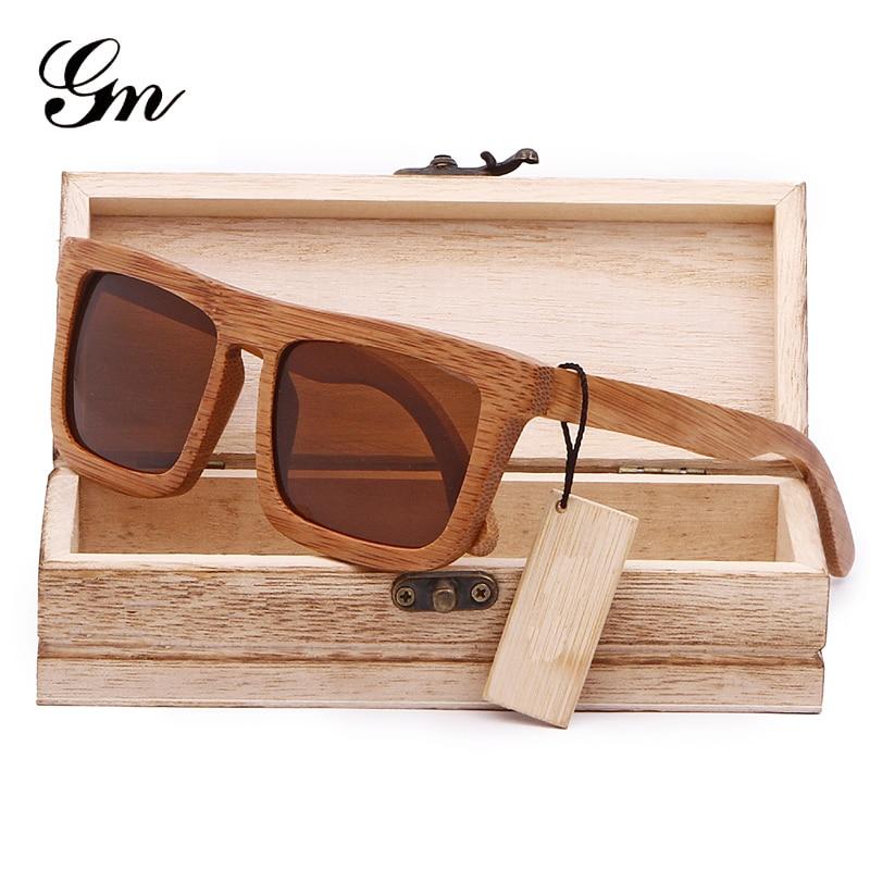 GM Classic vīriešiem polarizētas koka saulesbrilles ar - Apģērba piederumi