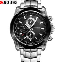 New CURREN Watch Men Luxury Brand Full Steel Business Quartz Watch Men Casual Quartz Watch Relogio