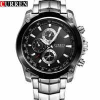 New CURREN Watch Men Luxury Brand Full Steel Business Quartz Watch Men Casual Quartz-watch Relogio Masculino CLock Male Japan