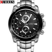 New CURREN Watch Men Luxury Brand Full Steel Business Quartz Watch Men Casual Quartz Watch Relogio