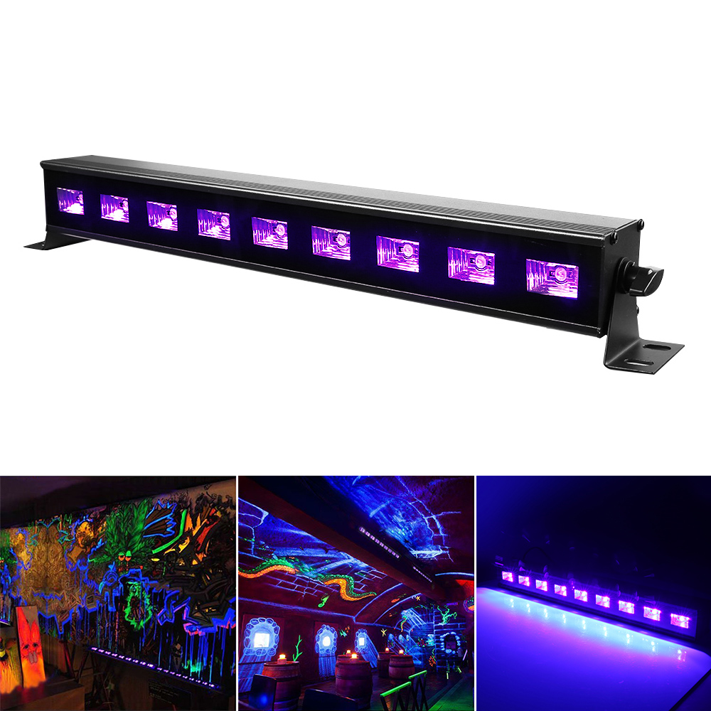 High Power 9LEDx3W Led Bar Black light UV Purple LED Wall Washer Lamp Landscape Wash Wall Lights for Outdoor Indoor Decoration 9ledx3w uv wall washer led stage bar light for outdoor indoor decoration