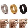 De alta calidad de moda 316l de acero inoxidable anillos de plata/oro/Negro/de malla Retro Punk gótico anillo para hombre joyería 8mm de ancho tamaño 6-13