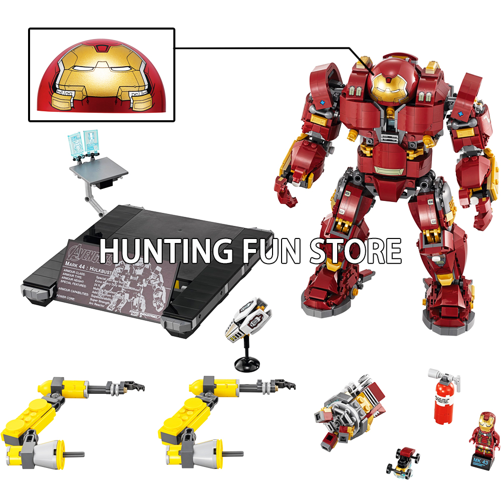 1527Pcs Super Heroes Iron Man Compatible Marvel 76105 07101 Anti Hulk Hulkbuster Mech Set Model Building Blocks Toys for Boys цена