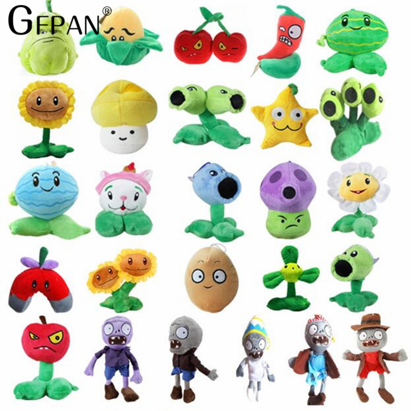 26 Styles 14-20cm Plants vs Zombies Plush Toys Plants vs Zombies Soft Stuffed Plush Toys Doll Baby Toy for Kids Gifts ...