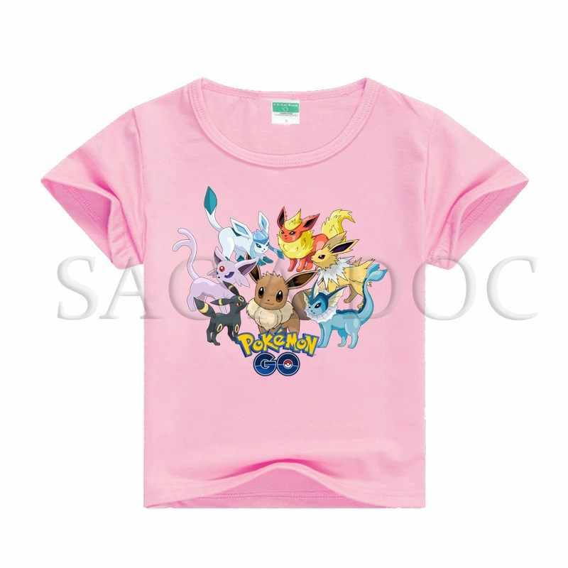 e57482552 ... Children Pokemon Eevee Umbreon T Shirt Baby Boys Girls 3D Print T-shirt  Summer Cotton ...